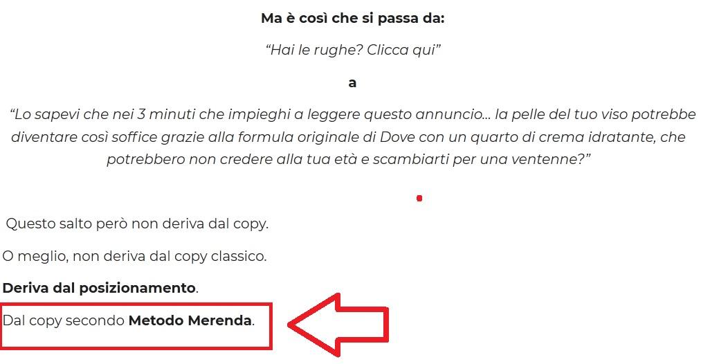 Copy secondo Frank Merenda