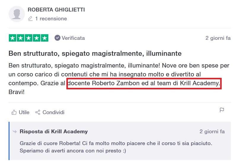 Recensione Roberta Ghiglietti
