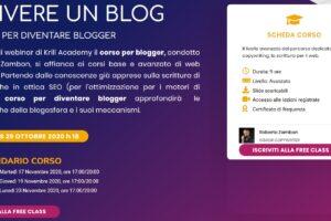 Immagine di presentazione free class blogging